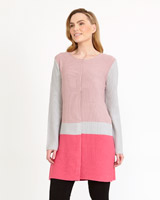 pink Gallery Colour Block Cardigan