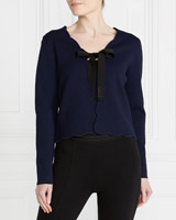 navy Gallery Scalloped Cardigan