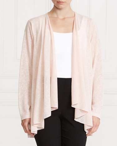 blush Gallery Textured Cardigan