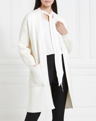 Gallery Mistletoe Pearl Sleeve Cardigan