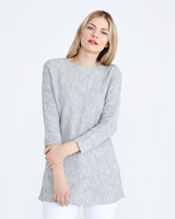 grey Gallery Ribbed Batwing Jumper