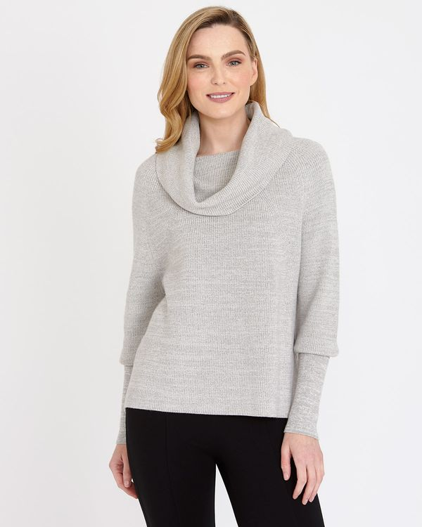 Gallery Long-Sleeved Cowl-Neck Jumper