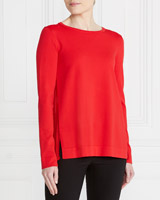 red Gallery Pleat Back Jumper