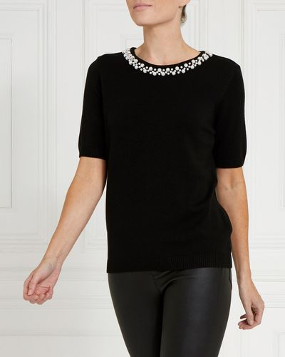 Gallery Short-Sleeved Pearl Jumper