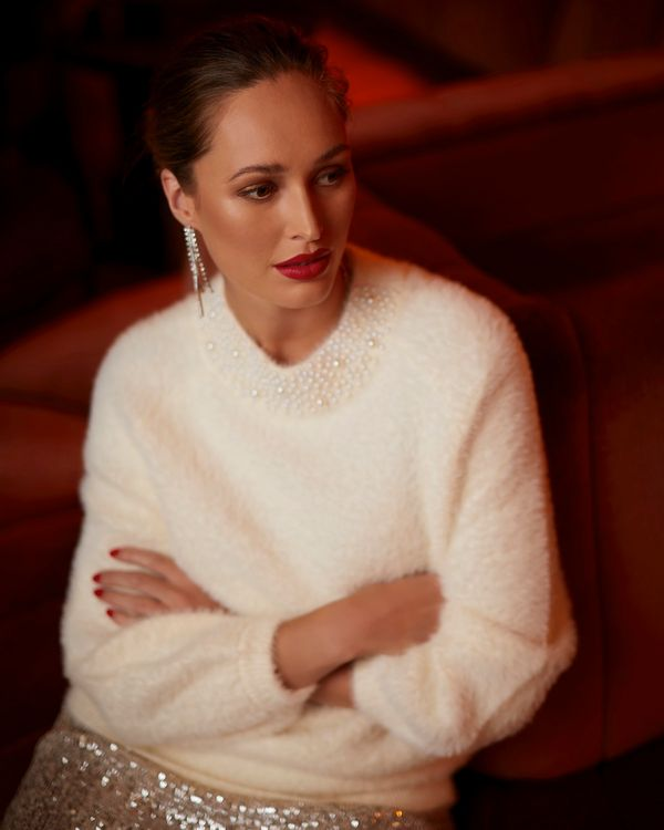 Gallery Fluffy Pearl Jumper