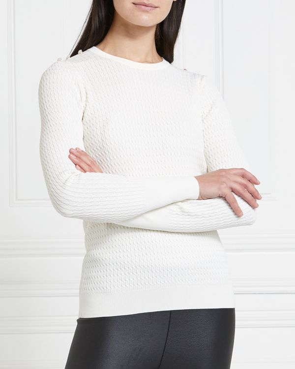 Gallery Mistletoe Cable Jumper