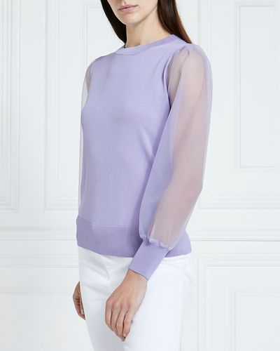 Gallery Merida Mesh Sleeve Jumper