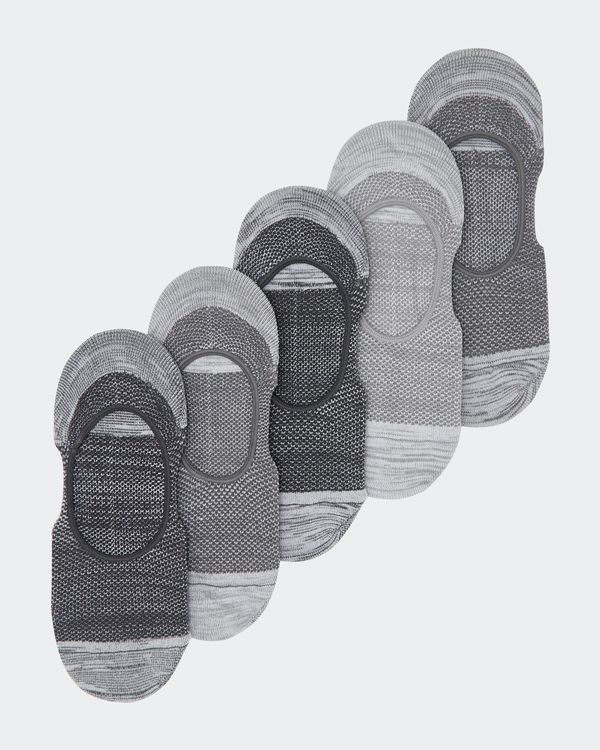 Mesh Liners With Heel Grips - Pack Of 5