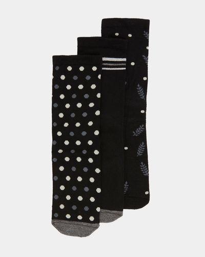 Cushion Design Bamboo Socks - Pack Of 3 thumbnail