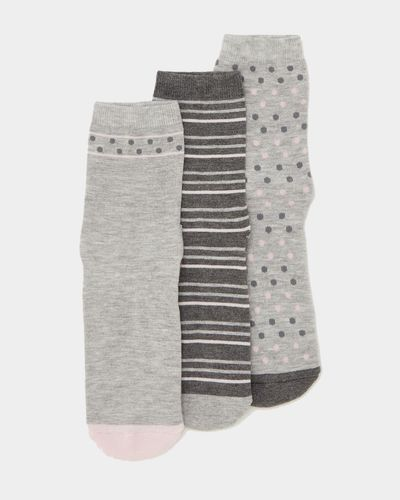 Cushion Design Bamboo Socks - Pack Of 3
