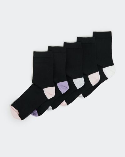 Coloured Ankle Socks - Pack of 5 thumbnail