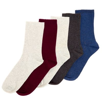 Coloured Ankle Socks - Pack of 5 thumbnail
