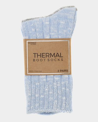 Viscose Rib Thermal Boot Socks - Pack Of 2 thumbnail