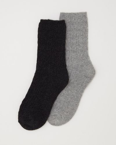 Cable Wool Mix Sock - Pack Of 2 thumbnail