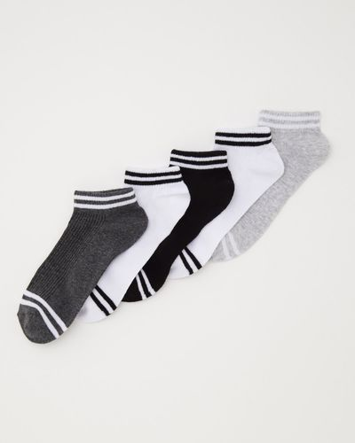 Ankle Rib Socks - Pack Of 5 thumbnail