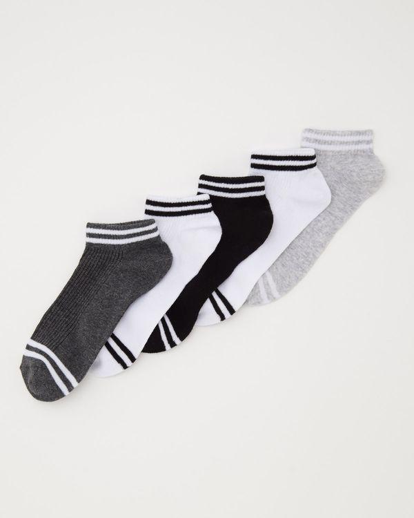 Ankle Rib Socks - Pack Of 5
