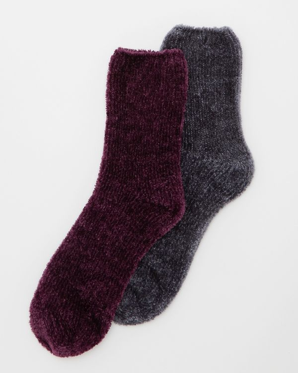Chenille Socks - Pack Of 2