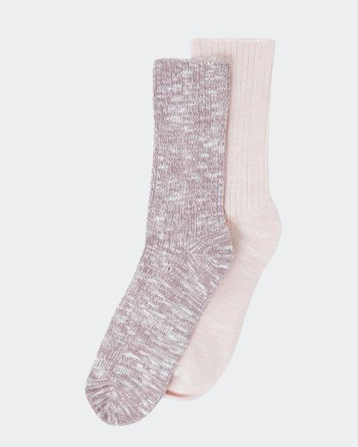 Viscose Rib Boot Socks - Pack Of 2