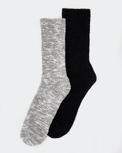 Viscose Rib Boot Socks - Pack Of 2
