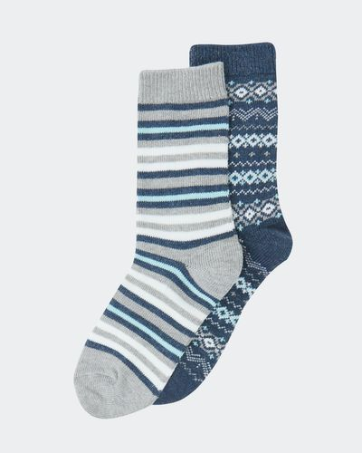Cotton Jacquard Boot Socks - Pack Of 2 thumbnail