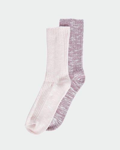 Rib Viscose Boot Sock - Pack Of 2