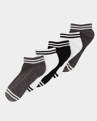 Arch Support Trainer Socks - Pack Of 5