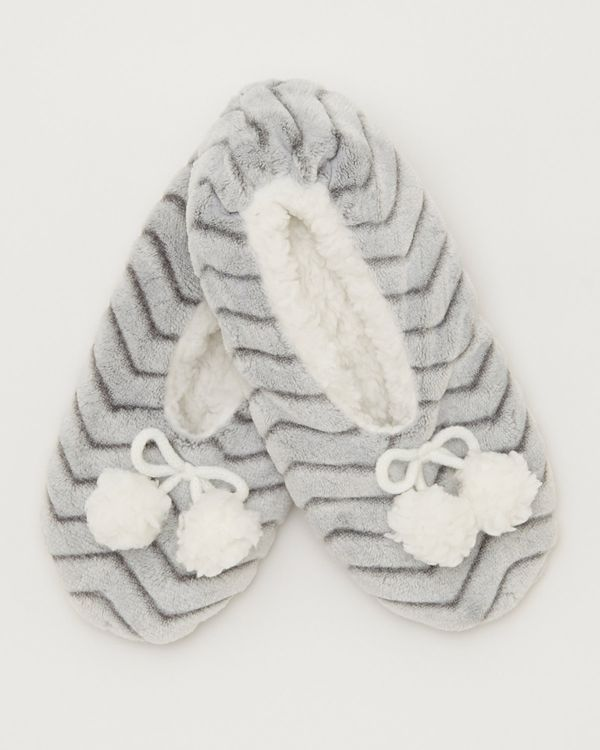 Chevron Ballerina Slippers