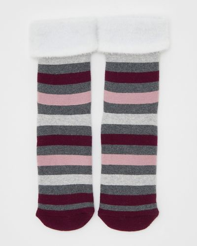 Terry Slipper Socks With Grippers - Pack Of 1 thumbnail