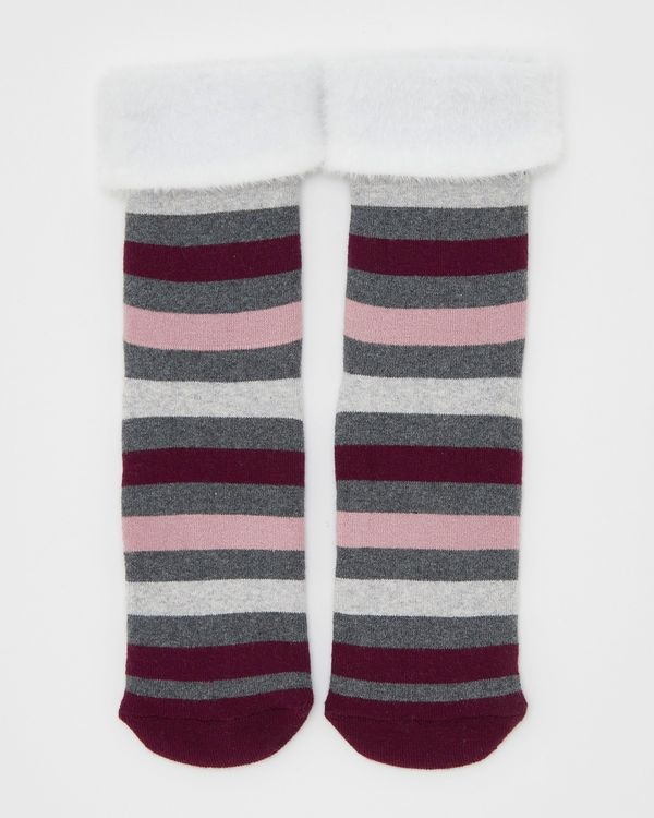 Terry Slipper Socks With Grippers - Pack Of 1