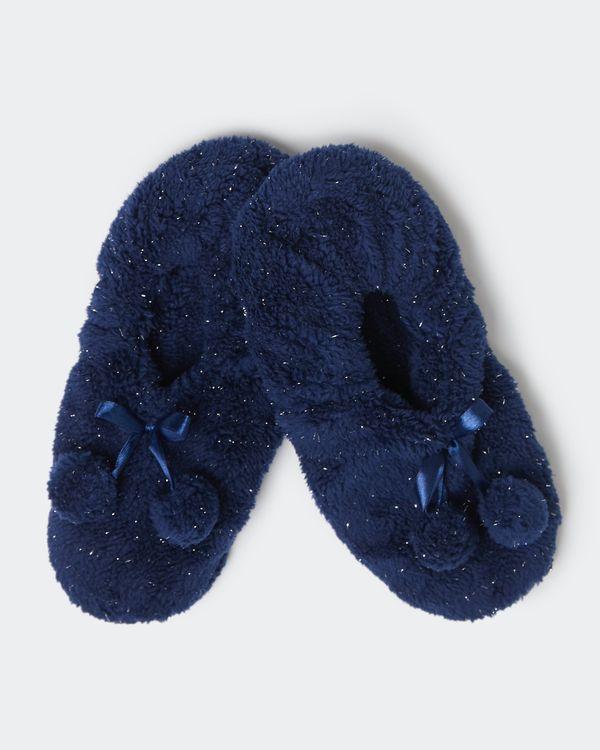Fleece Slipper With Lurex