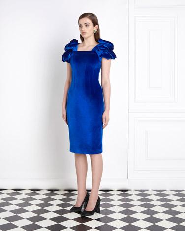 blueJoanne Hynes Draped Velvet Dress