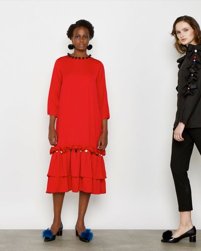 Joanne Hynes Red Composition Dress