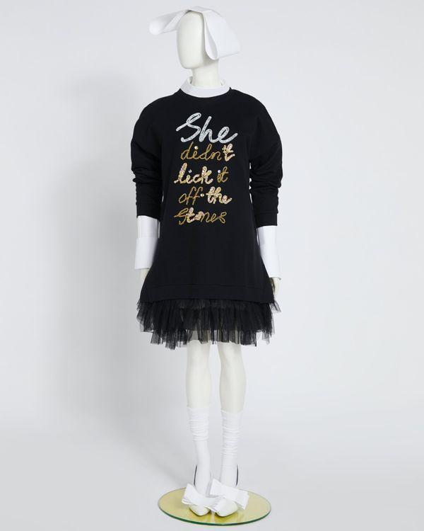 Joanne Hynes She Didn't Lick It Off The Stones Tulle Hem Oversized Sweater Dress