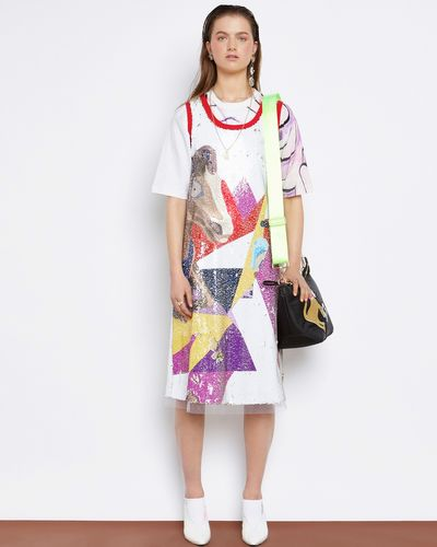 Joanne Hynes The Carousel Dream Printed Sequin Dress (With Moving Sequins)