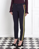 navy Joanne Hynes Embellished Trousers