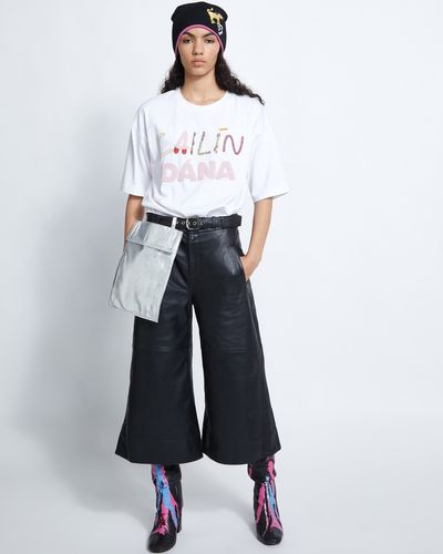 Joanne Hynes Handy Woman Leather Culottes With Removable Bag thumbnail
