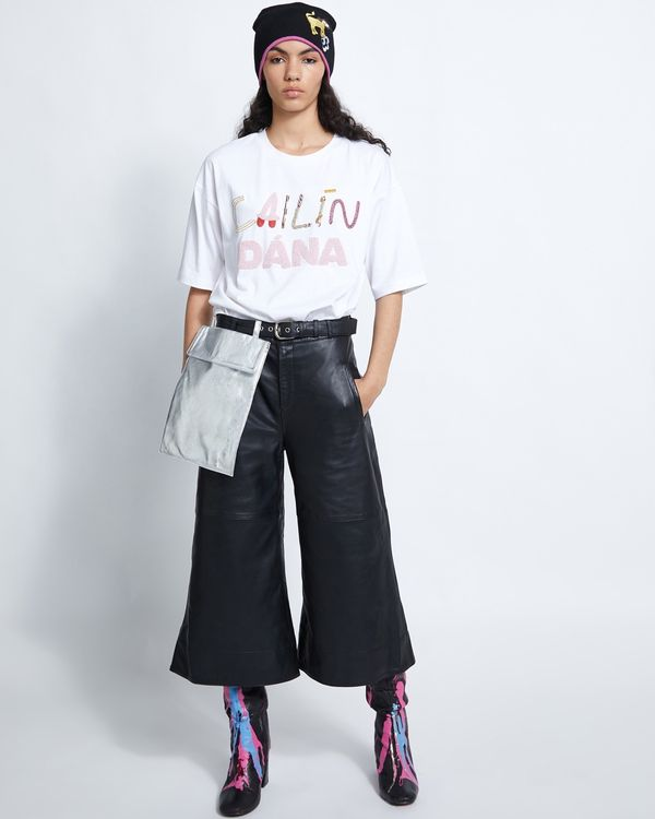 Joanne Hynes Handy Woman Leather Culottes With Removable Bag