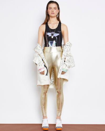 Joanne Hynes A Golden Platinum Summer Metallic Legging