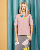 pink Joanne Hynes Lotus And Moon Perspex T-Shirt