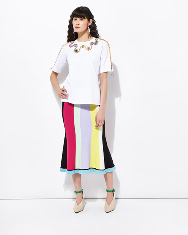 multiJoanne Hynes Mega Crystals And Ropes T-Shirt