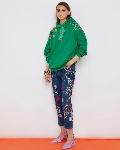 Joanne Hynes Green Dream Tiger Lady Lux Hoodie