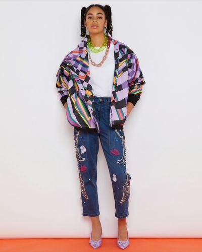 Joanne Hynes Sunset Traffic Batwing Jacket Top (New Mauve)