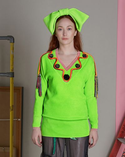 Joanne Hynes Couture Neon Jumper