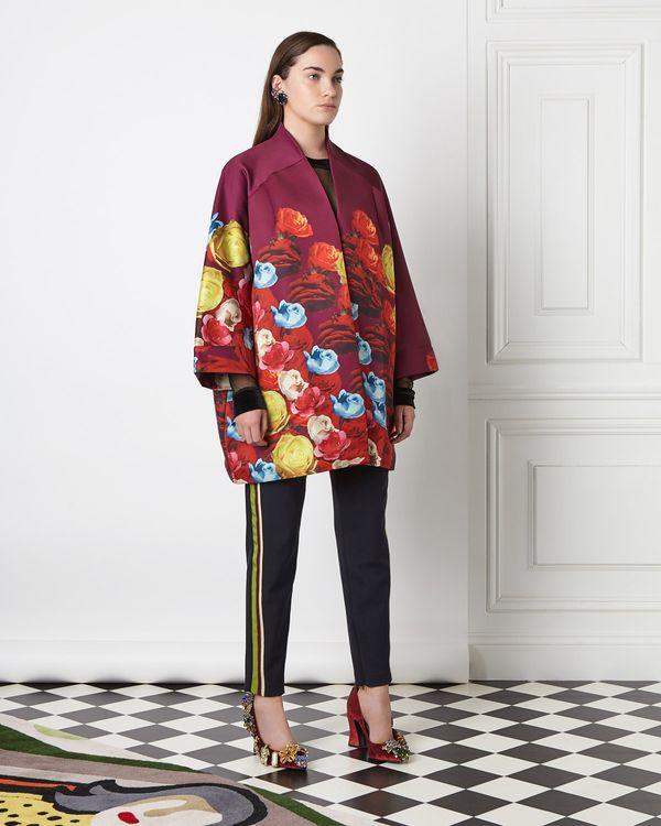 Joanne Hynes Rose Printed Coat