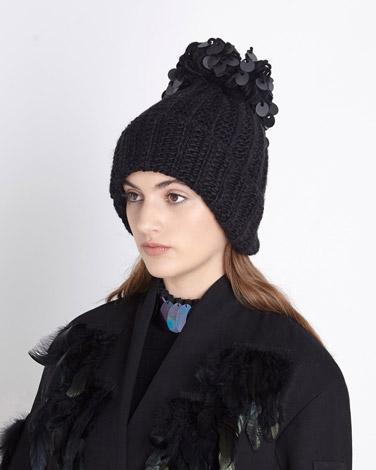 blackJoanne Hynes Sequin Hat