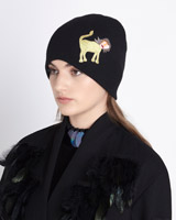black Joanne Hynes Tiger Lady Cashmere Mix Hat