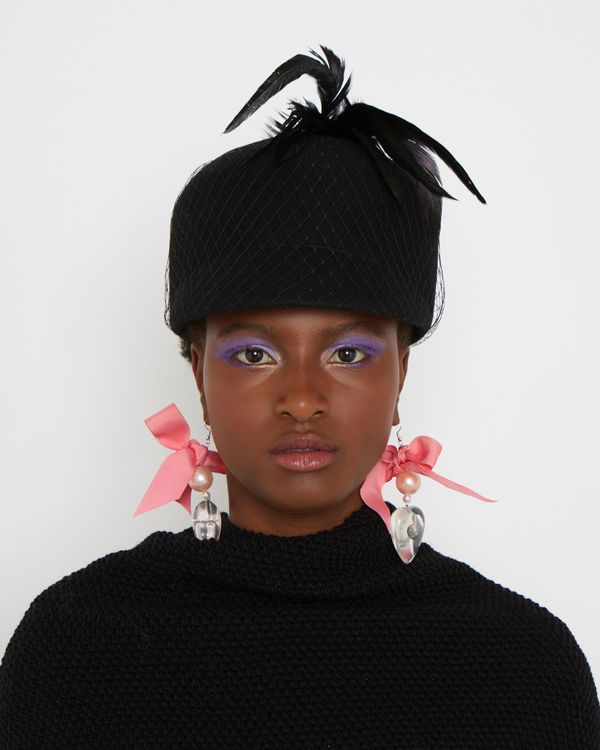 Joanne Hynes Removable Feather Felt Riding Hat