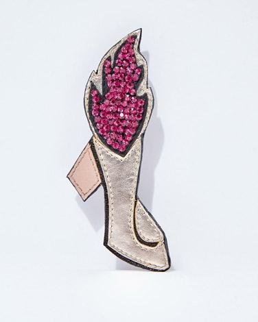 multiJoanne Hynes Flaming Shoe Brooch