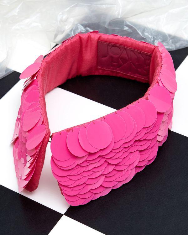 Joanne Hynes Hot Pink Sequin Collar