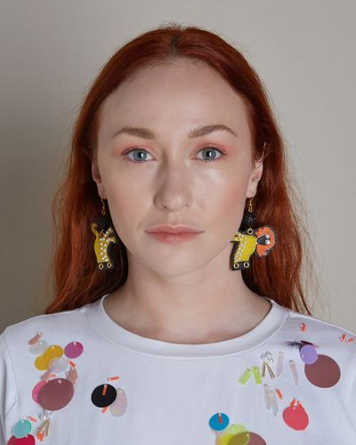 Joanne Hynes Tiger Lady Earring